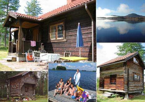 Härligt timmerhus 200 till Siljan med egen brygga, Gesunda Mora, Dalarna - Uthyres
