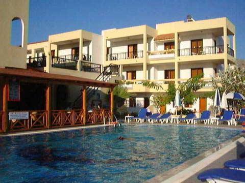 Tvårumslägenhet för upp till 4 personer, Pefkos resort, Rhodes island, Greece - Uthyres