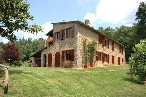 Uthyrning av semesterhus för 8 personer, Monticiano, Siena, Italien