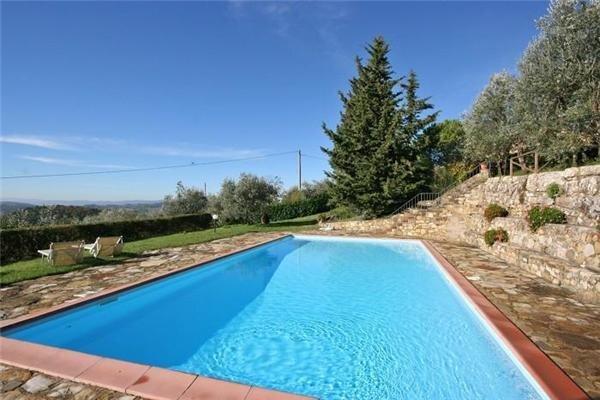 Lägenhet för 5 personer uthyres, San Donato in Poggio, Florentine Hills, Italien