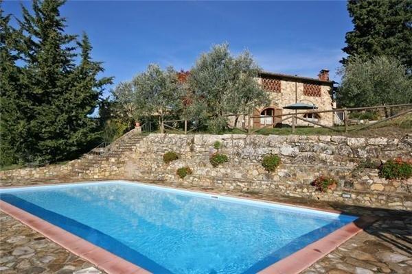 Semesterhus för 6 personer uthyres, San Donato in Poggio, Florentine Hills, Italien