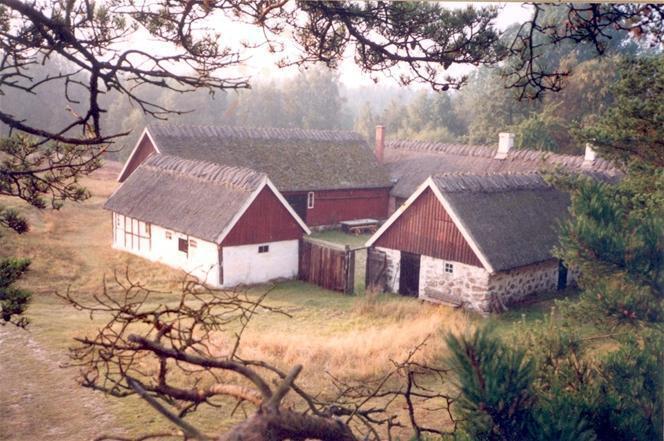 Skånegård på Österlen; vasstak, bastu, nära badstrand