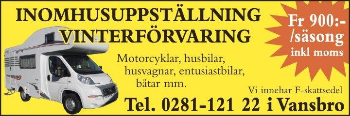 www.vintergaraget.se Vansbro Vinterförvaring Fordonsförvaring, mc, bil, husbil, husvagn etc.
