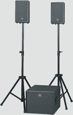 Hyr ljudpaket med aktiva toppar och bas