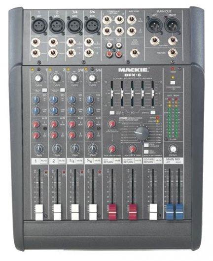 Hyr 6 kanalers mixerbord till lågt pris!