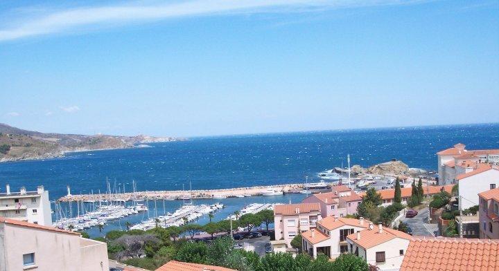 Lägenhet med fantastisk havsutsikt i Banyuls sur Mer i Syd-Frankrike