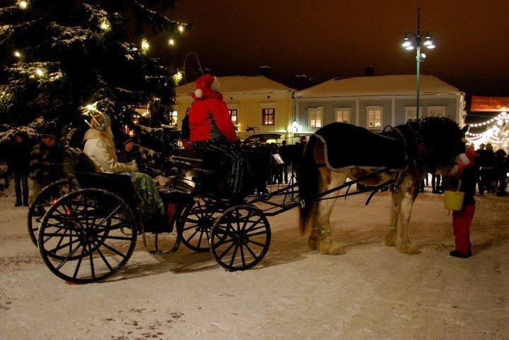 häst och vagn!