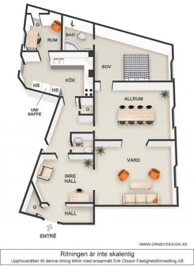 Lägenhet i Malmö 110kvm