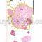 iPhone 3G 3GS Hello Kitty Vit Rosa med Hjärtsmycken Skal