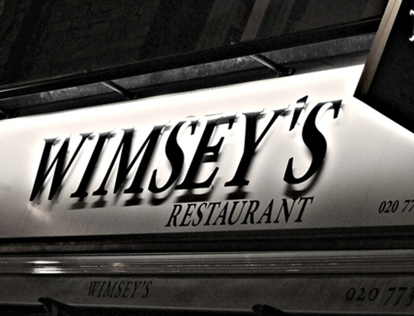 RESTAURANT REVIEW: WIMSEY'S
