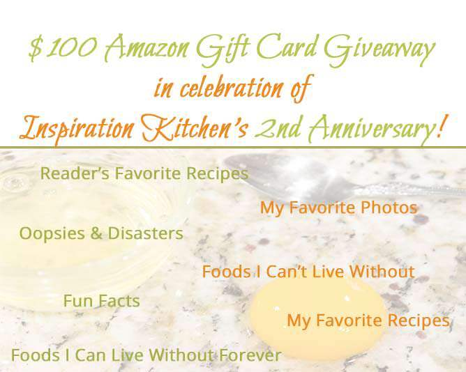 Second Year Blog Anniversary + $100 Amazon Gift Card Giveaway