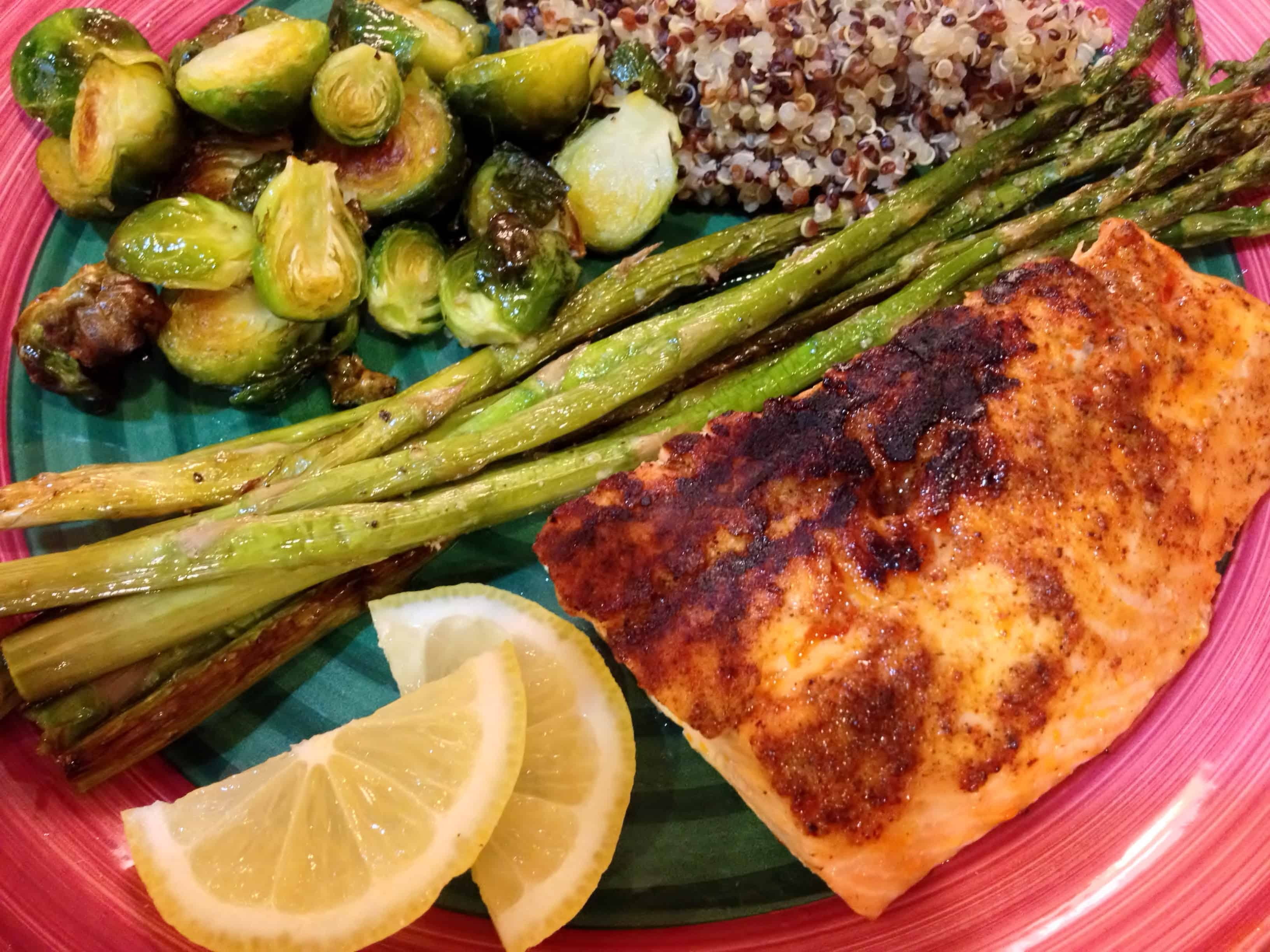 Barbecue Rubbed Salmon