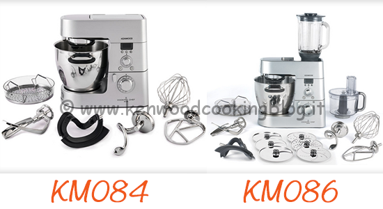 Kenwood Cooking Chef differenze tra KM084 e KM086