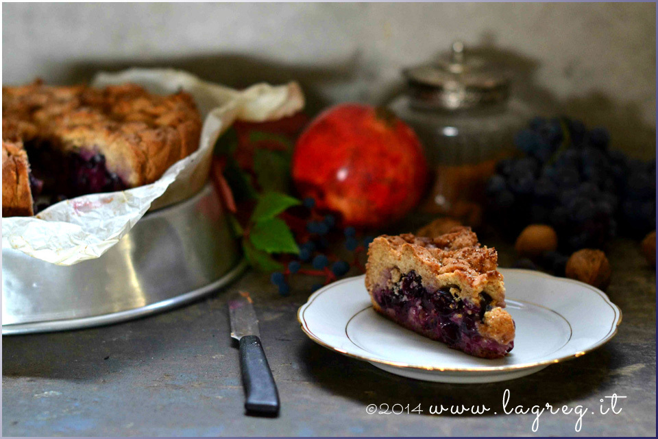 La torta Bertolina | Double crust concord grape pie