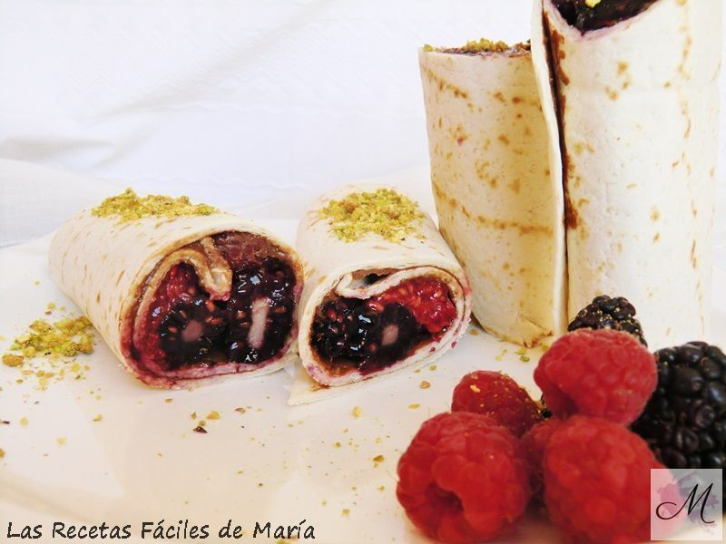 Wraps de Chocolate y Frutos Rojos