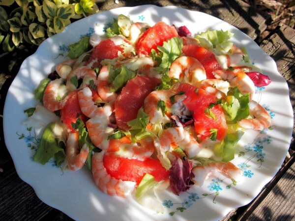 Fish on Friday with Pink Grapefruit and Prawn Salad suitable for 5:2 Diet and Weight Watchers