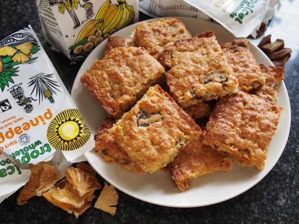 The Big Fair Bake and Tropical Wholefoods: Tropical Fruit Flapjack Slices for a Tea Time Treat!