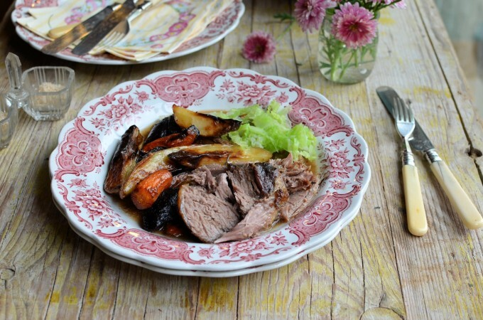 Organic Easter Menu: French Herb & Garlic Lamb and Pots au Chocolat