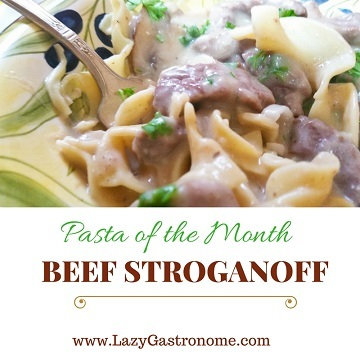 Pasta of the Month – Beef Stroganoff