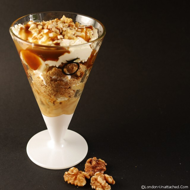 Coffee, Walnut and Banana Ice-Cream Sundae
