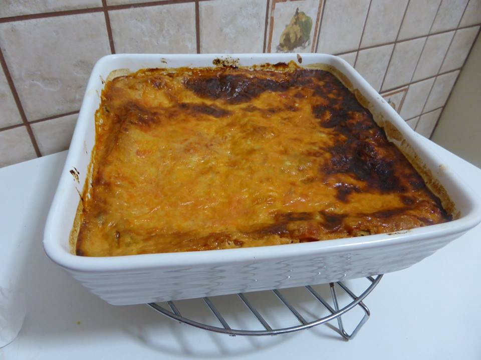 Egg Plant and Spinach Lasagne
