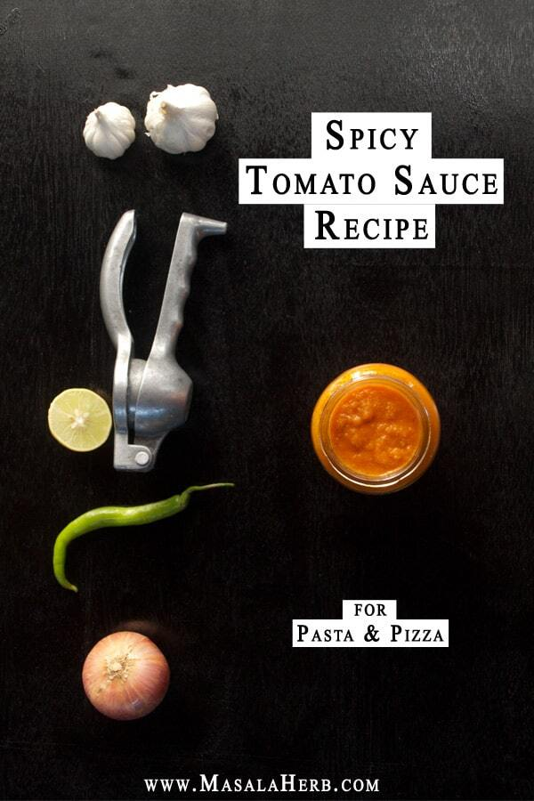 Spicy Tomato Sauce Recipe for Pasta and Pizza