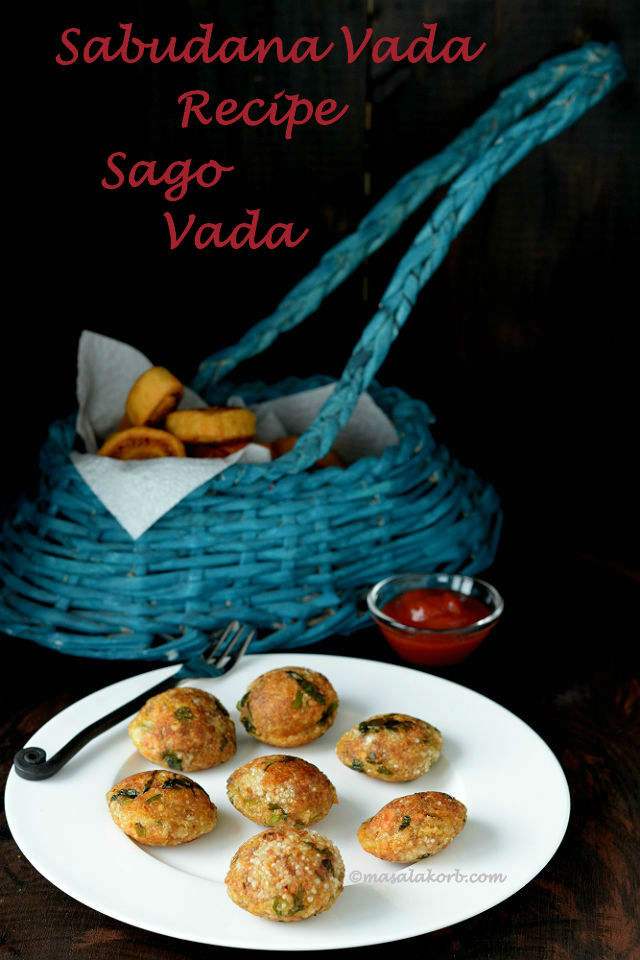 Sabudana Vada Recipe in Appe Pan, Low Oil (No Deep-Fry) Version | Sago Vada