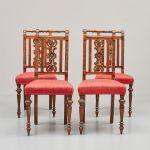 Stolar 4 st, Sent 1800-tal, ek