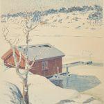 Färglitografi Roland Svensson (1910-2003