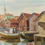 Oljemålning Otto Klank (f. 1915)