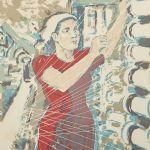 Färglitografi Albin Amelin (1902-1975)