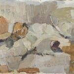 Oljemålning Lundgren, Stillben, 35x65