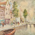 Oljemålning Nordman, Amsterdam, 49x69