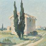 Oljemålning Stig Jonzon (1913-1987)