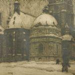 Litografi Ferdinand Boberg (1860-1946)