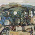 Oljemålning Bertil Wahlberg (f. 1923)