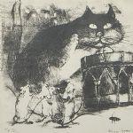 Litografi Maija Karma (1914-1999)
