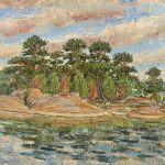 Oljemålning Arne Scheding (1916-1997)