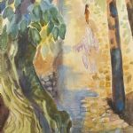 Akvarell Gösta Lovén (1917-1992)