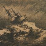 Etsning Fartyg, signerad, motivet: 50x63