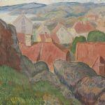 Oljemålning Motiv från Västkusten, 38x40