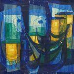 Oljemålning Wikström, komposition, 45x53