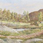 Oljemålning J Malm, Landskap, 45x55