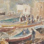 Oljemålning Gull Rosdahl (f. 1922)