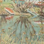 Oljemålning Nils Tydén (1889-1976)