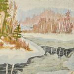 Färglitografi Mårten Andersson (f. 1934)