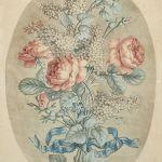 Litografi Feuille de Fleurs