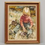 Oljemålning Charles Roka (1912-1999)