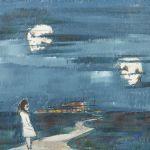 Oljemålning Axel Eriksson Fole, 37x48