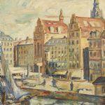Oljemålning Emil Hellbom (1895-1969)